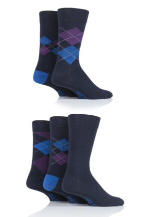 Mens 5 Pair Farah Argyle Socks