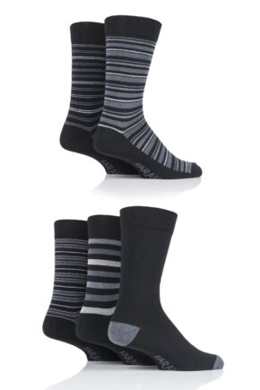 Mens 5 Pair Farah Stripe Socks