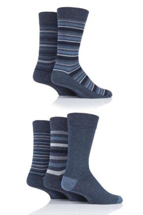 Mens 5 Pair Farah Stripe Socks