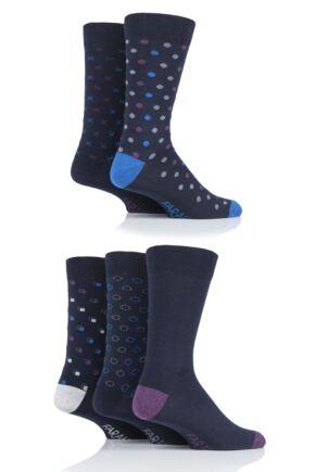 Mens 5 Pair Farah Patterned Socks