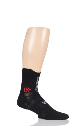 Compressport 1 Pair High Cut V3.0 Trail Socks Smart Black 7.5-10 Unisex