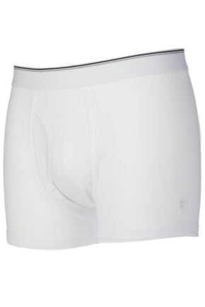 Mens 2 Pack Farah Keyhole Trunks White XL