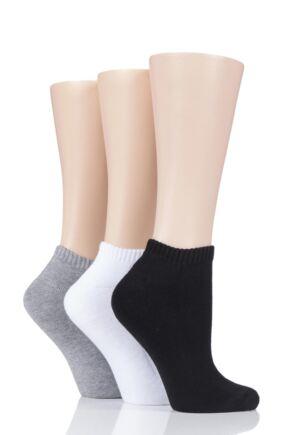 Ladies 3 Pair Glenmuir Cushion Bamboo Sports Trainer Socks