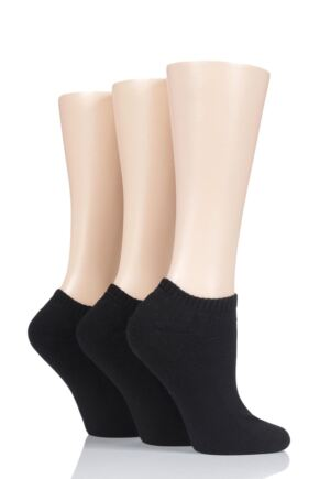 Ladies 3 Pair Glenmuir Cushion Bamboo Sports Trainer Socks