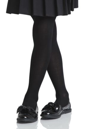 Girls 2 Pair Pretty Legs 70 Denier Opaque School Tights