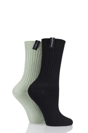 Ladies 2 Pair Glenmuir Lightweight Bamboo Boot Socks