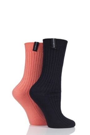 Ladies 2 Pair Glenmuir Lightweight Bamboo Boot Socks
