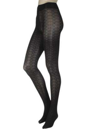 Ladies 1 Pair Trasparenze Damasco Opaque Tights