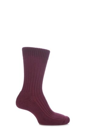 Mens and Ladies 1 Pair Glenmuir Cotton Cushioned Golf Socks Port L