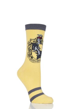 Ladies Harry Potter House Badges Socks Hufflepuff 4-8 Ladies