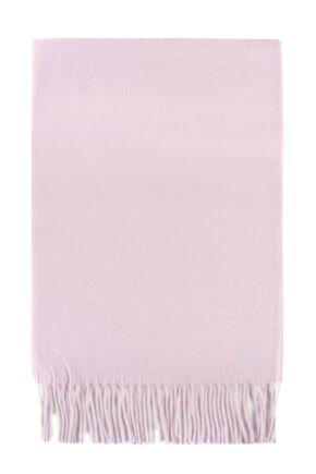 Mens and Ladies Fraas Plain Cashmink Scarf Light Pink One Size