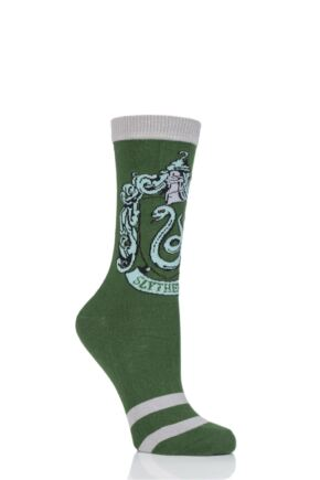 Ladies Harry Potter House Badges Socks Slytherin 4-8 Ladies