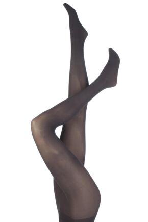 Ladies 1 Pair Jonathan Aston 40 Denier Plain Opaque Tights Aubergine