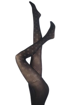 Ladies 1 Pair Pretty Polly Curves Diamond Fashion Tights