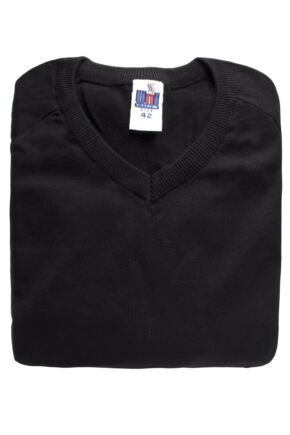 Kids-V-Neck-School-Sweatshirt-Jumper-Blue-Grey-or-Black-32-34-36-or-38