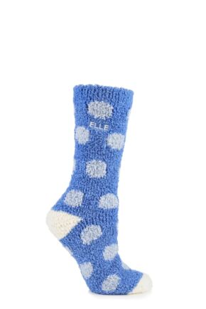 Ladies 1 Pair Elle Supersoft Spotty Cosy Socks