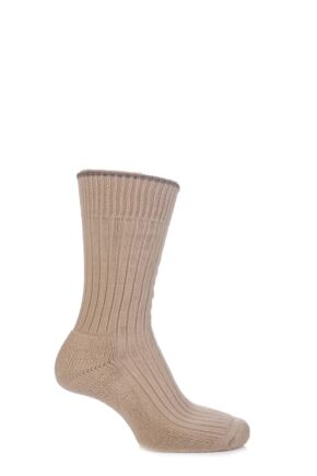 Mens and Ladies 1 Pair Glenmuir Cotton Cushioned Golf Socks Oatmeal S