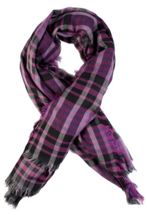 Mens Fraas Check Patterned Scarf  75% OFF