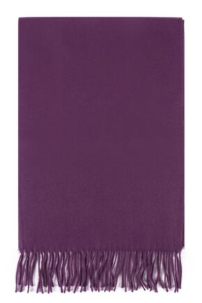 Mens and Ladies Fraas Plain Cashmink Scarf Purple One Size