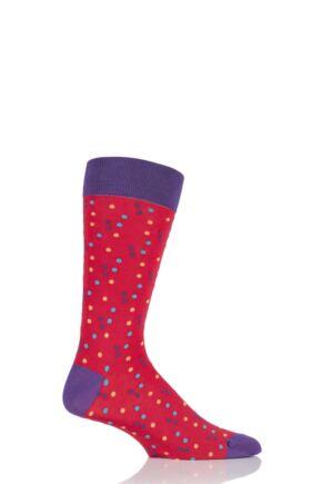 Mens 1 Pair HJ Hall Franklin Spotty Egyptian Cotton Socks 33% OFF Crocus 7-10 Mens