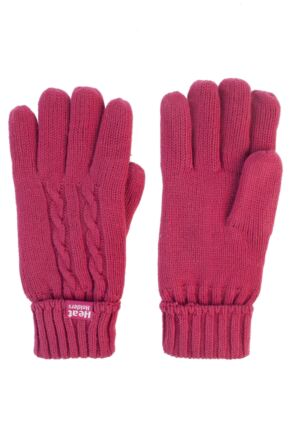 Ladies 1 Pair SOCKSHOP Heat Holders Cable Knit Gloves