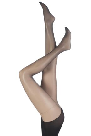 Ladies 2 Pair Pretty Polly 10 Denier Simply Sheers Secret Slimmer Tights