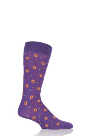Mens 1 Pair HJ Hall Jefferson Spotty Egyptian Cotton Socks 33% OFF Crocus 7-10 Mens