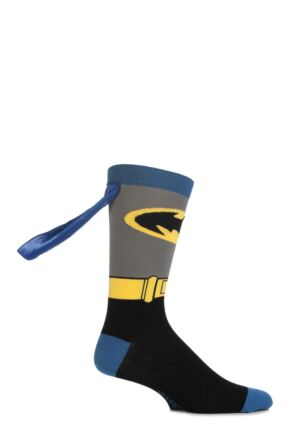 Mens 1 Pair SockShop Batman Cape Socks