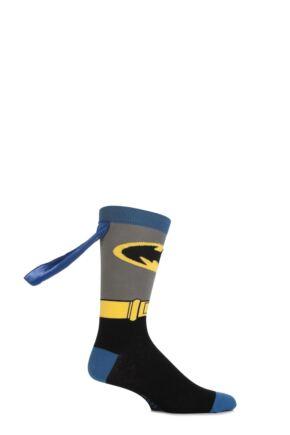 Boys 1 Pair SockShop Batman Cape Socks Multi Coloured 12.5-3.5