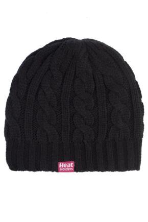 Ladies SockShop Heat Holders Cable Knit Hat