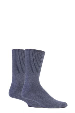 Mens 2 Pair SockShop Cotton Comfort Cuff Socks 25% OFF This Style