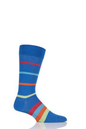 Mens 1 Pair HJ Hall Elkins Striped Egyptian Cotton Socks