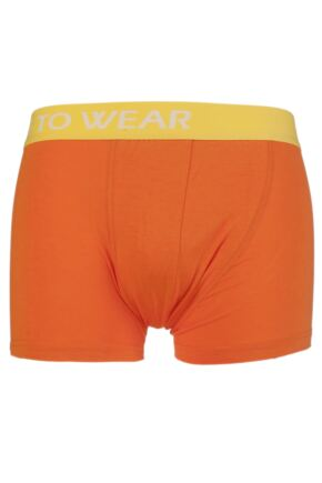 Mens 1 Pair SockShop Dare to Wear Bamboo Hipster Trunks Vibrant Orange L