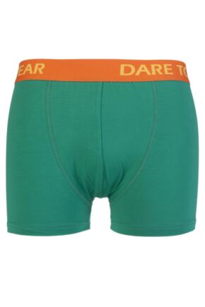Mens 1 Pair SockShop Dare to Wear Bamboo Hipster Trunks Emerald Green M