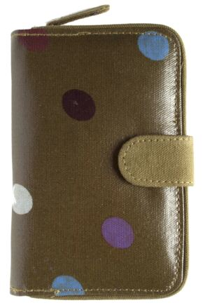 Ladies Bewitched Spots, Spots, Spots Polka Dot Design Wallet Purse 75% OFF Olive