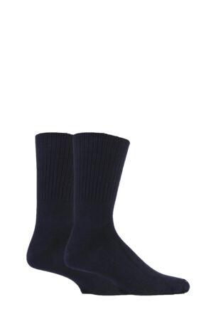 Mens 2 Pair SockShop Cotton Comfort Cuff Socks 25% OFF This Style