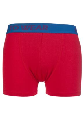 Mens 1 Pair SockShop Dare to Wear Bamboo Hipster Trunks Pillar Box Red S