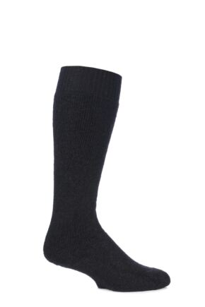 Mens and Ladies 1 Pair SockShop of London Mohair Knee High Socks With Extra Cushioning and Ribbed Top