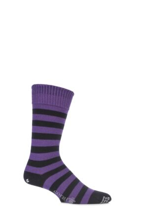 Corgi 80% Wool Banded Striped Socks