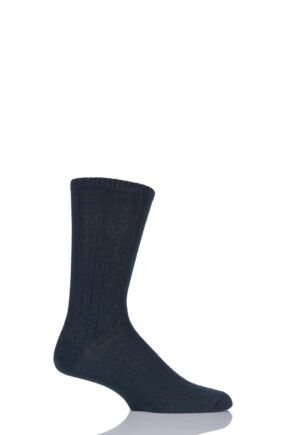 Mens 1 Pair SockShop of London 100% Cashmere Bed Socks Kingfisher 11-13 Mens