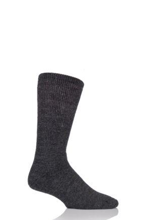Mens 1 Pair HJ Hall Wool Diabetic Socks Charcoal 6-11 Mens