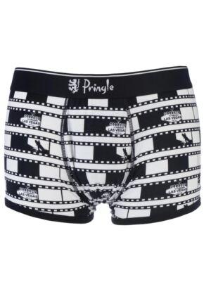 Mens 1 Pack Pringle Film Reel Hipster Boxer Shorts