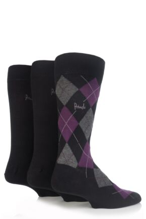 Mens 3 Pair Pringle Strathaven and Dee Gift Box Black