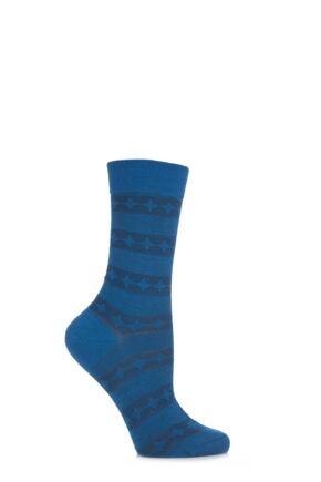 Ladies 1 Pair Pantherella Merino Wool Catherine Spiral Band Socks