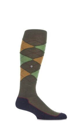 Mens 1 Pair Burlington Hackney Riding Knee High Socks Olive