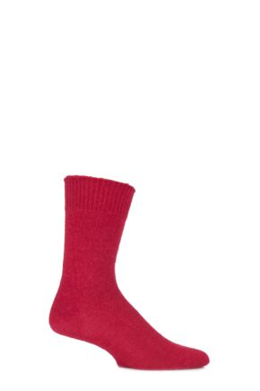 Mens and Ladies 1 Pair J. Alex Swift Plain Alpaca Socks Red 8-10