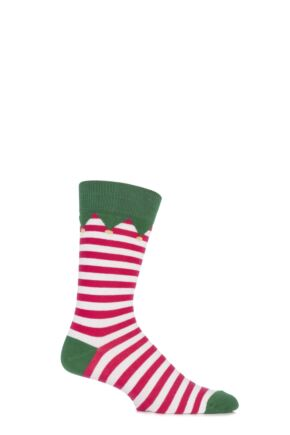 Mens 1 Pair SockShop Christmas Dare to Wear Santa's Elf Socks