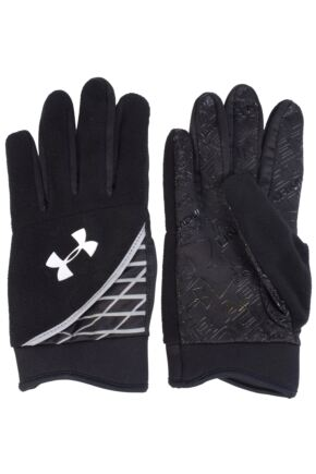 Mens 1 Pair Under Armour Coldgear Fleece Glove With Hidden Key Pocket