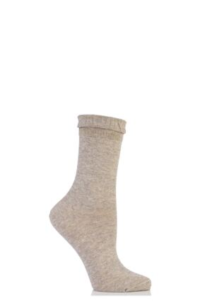 Ladies 1 Pair Falke Resplendence Plain Marled Bamboo Socks