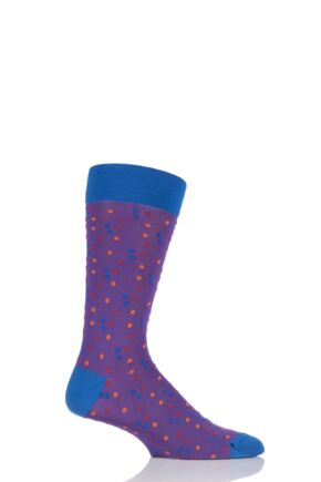 Mens 1 Pair HJ Hall Franklin Spotty Egyptian Cotton Socks 33% OFF Royal 7-10 Mens